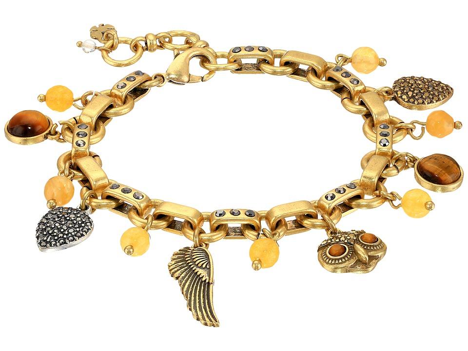 Lucky Brand - Owl Charm Bracelet (Two-Tone) Bracelet