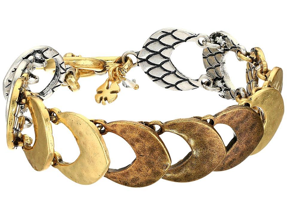 Lucky Brand - Tri-Tone Link Bracelet (Two-Tone) Bracelet