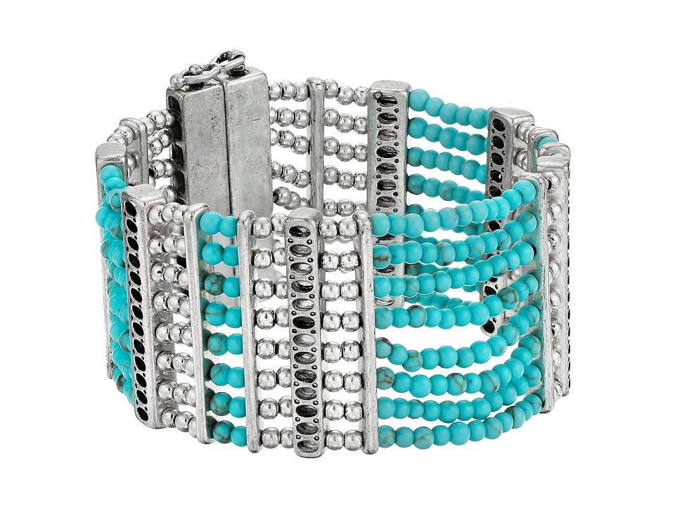 Lucky Brand - Turquoise Lucky Layer Bracelet (Silver) Bracelet