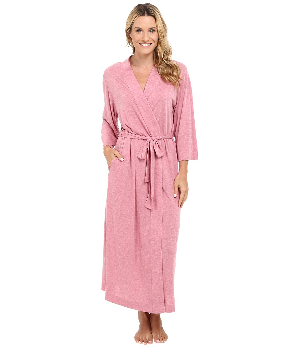 Natori - Shangri-La Robe (Heathered Dark Radish) Women's Robe