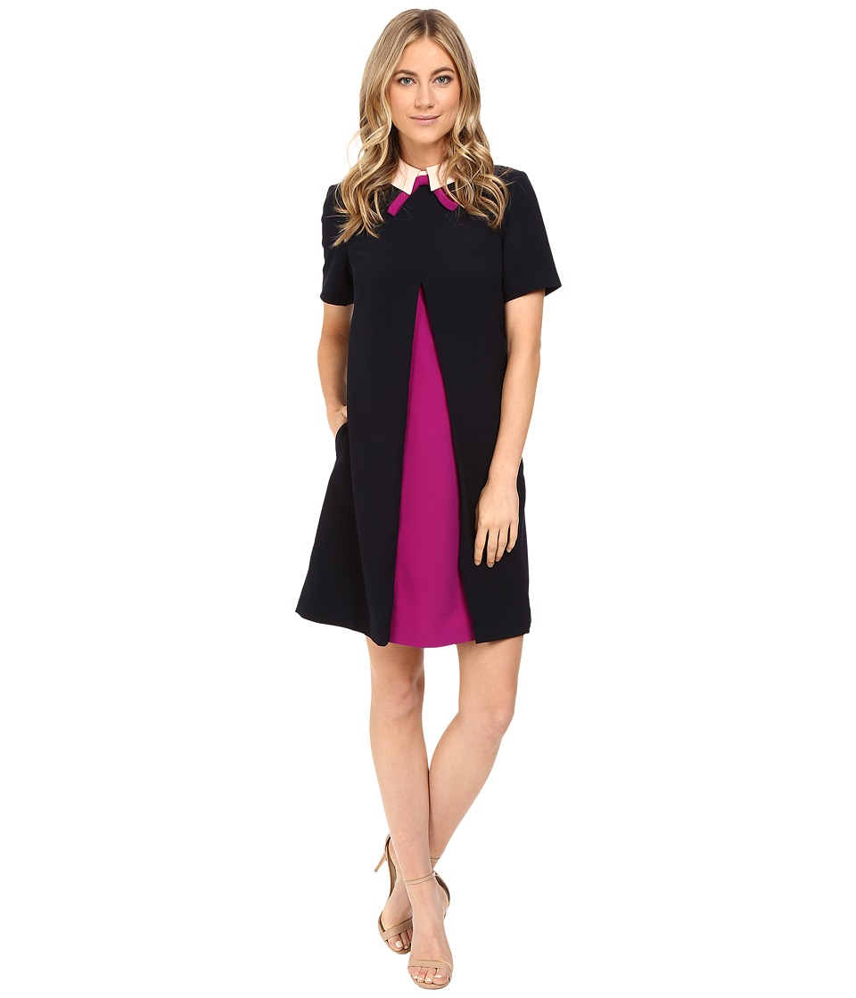 Ted Baker - Wonce Inverted Pleat Front Tunic (Navy) Women's Dress