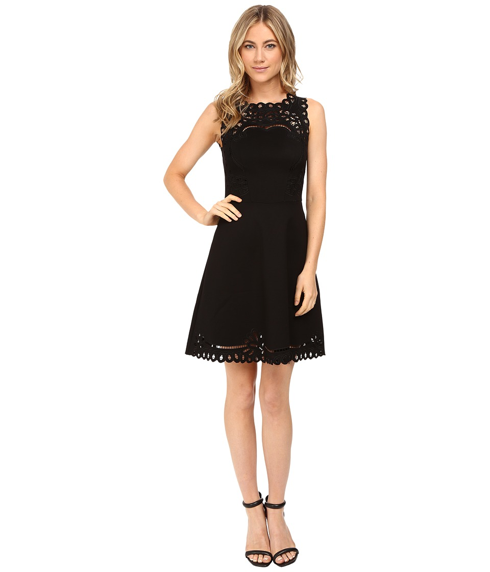 Ted Baker - Verony Embroidered Skater Dress (Black) Women's Dress