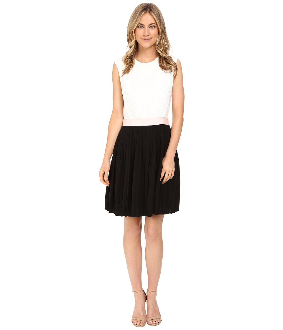 Ted Baker - Glina Pleated Full Skirt Dress (Black) Women's Dress