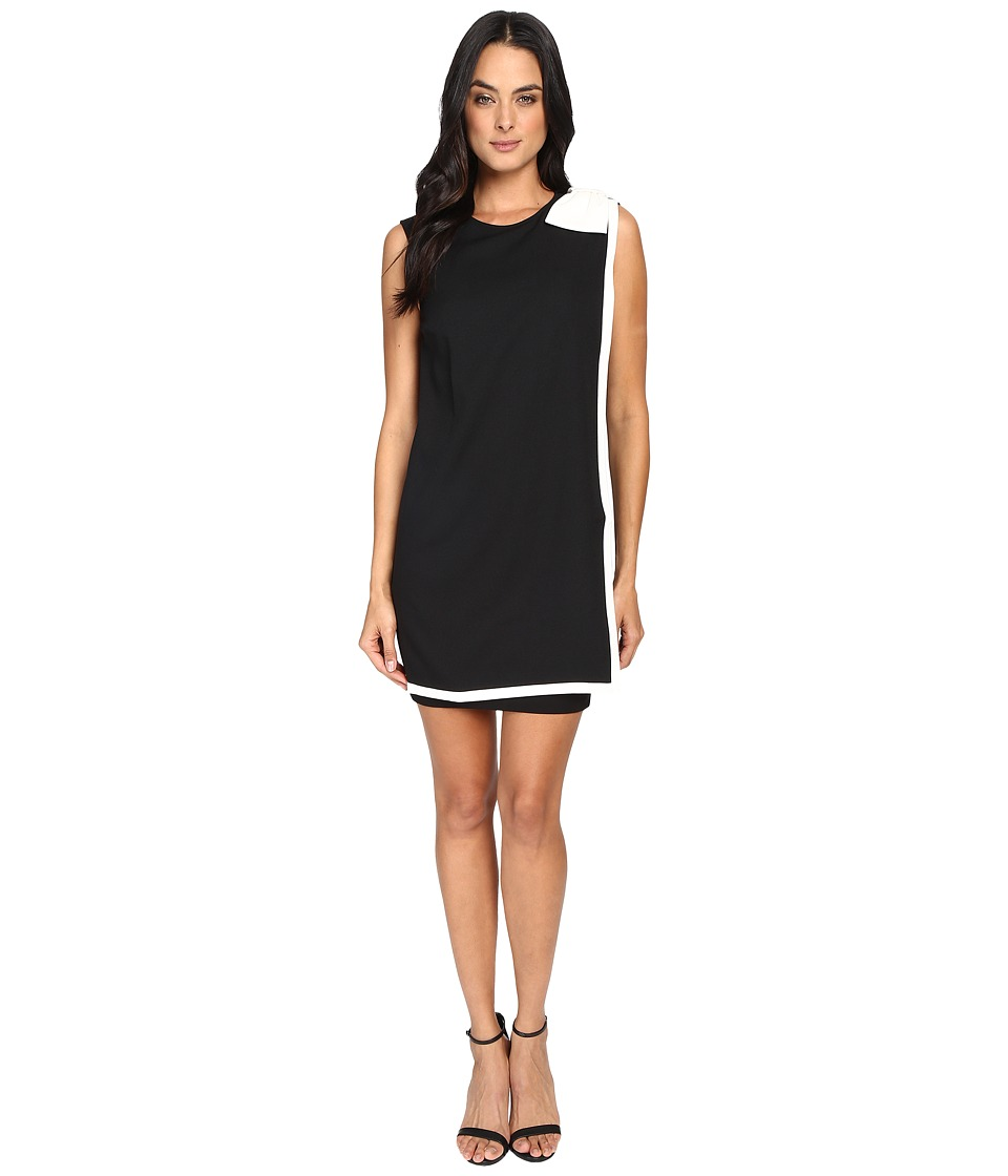 Ted Baker - Elija Double Layer Dress with Bow (Black) Women's Dress