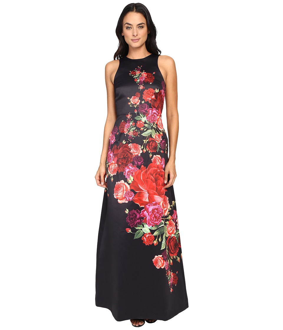 Ted Baker - Marico Juxtapose Rose Maxi Dress (Black) Women's Dress