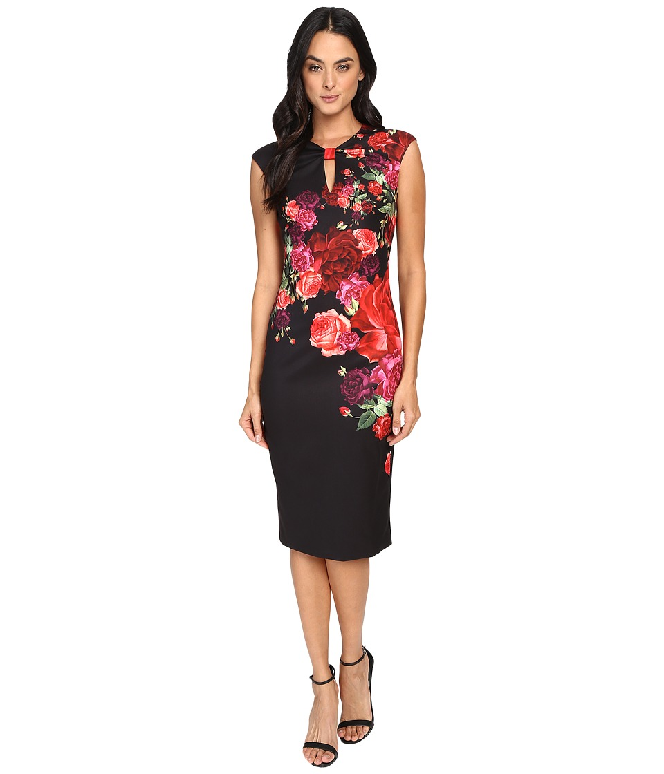 Ted Baker - Mirrie Juxtapose Rose Knot Dress (Black) Women's Dress
