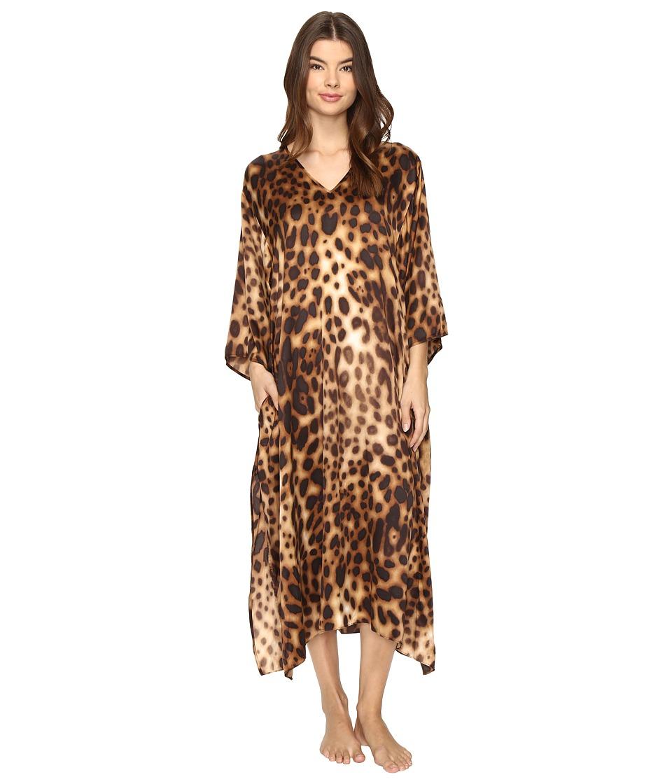 Natori - Leopard Caftan (Natural) Women's Pajama