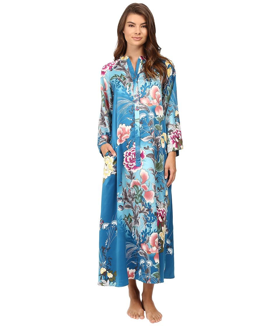 Natori - Serene Zip Caftan (Seaport Blue) Women's Pajama