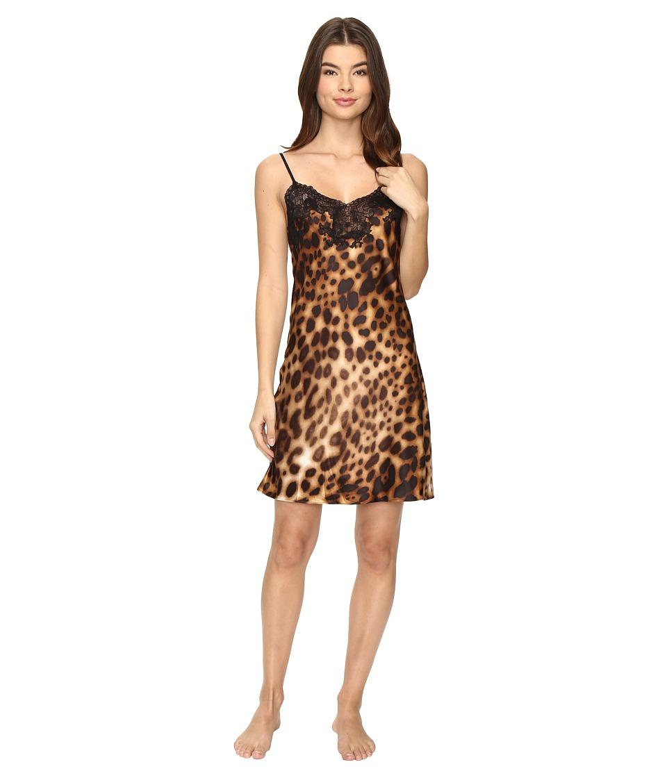 Natori - Leopard Chemise (Natural) Women's Pajama