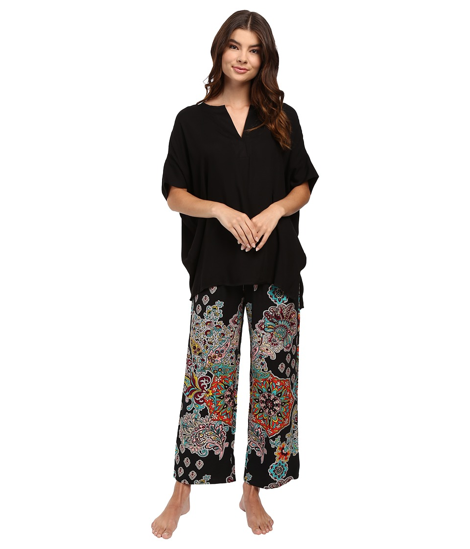 N by Natori - Medallion Cascade PJ (Black) Women's Pajama Sets