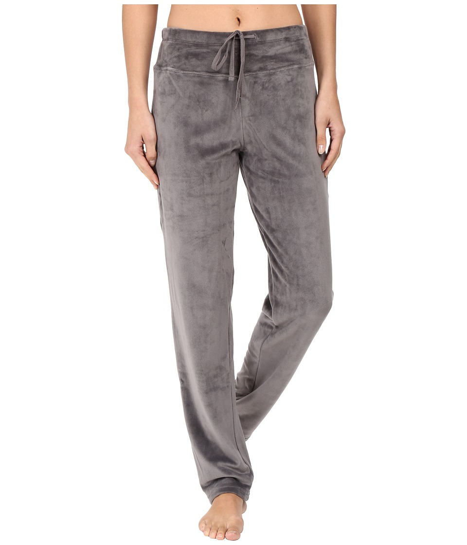 N by Natori - Velour Pants (Charcoal) Women's Pajama