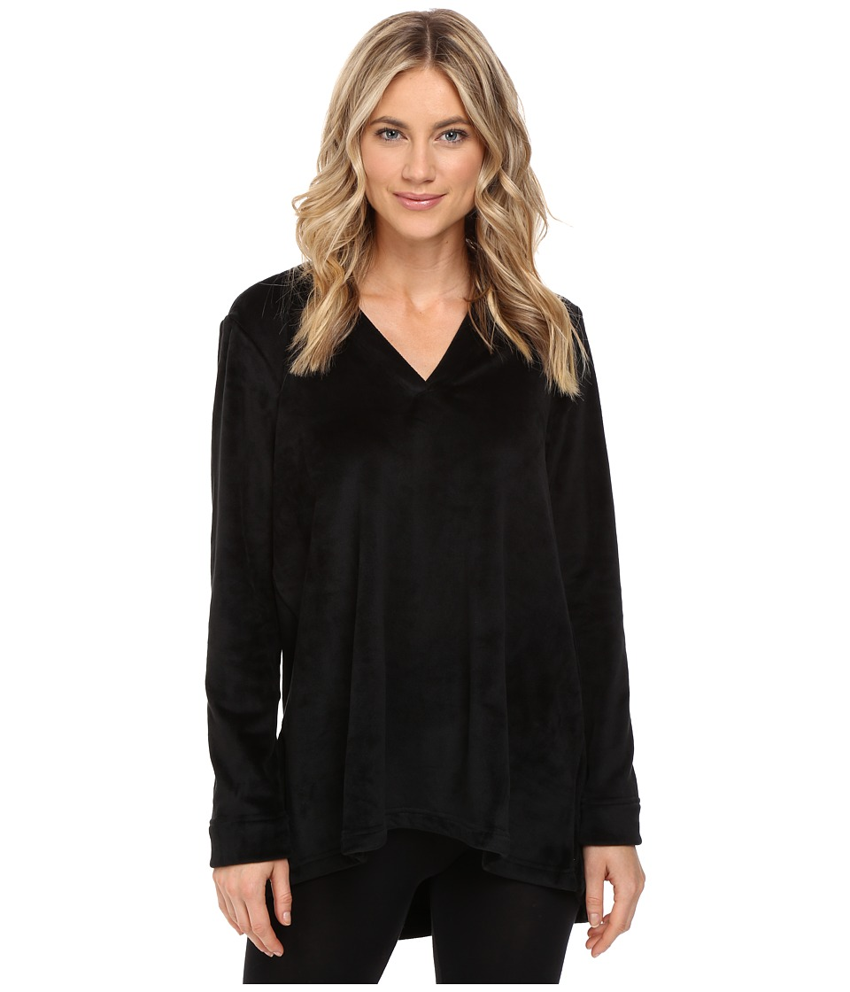 N by Natori - Velour Top (Black) Women's Pajama