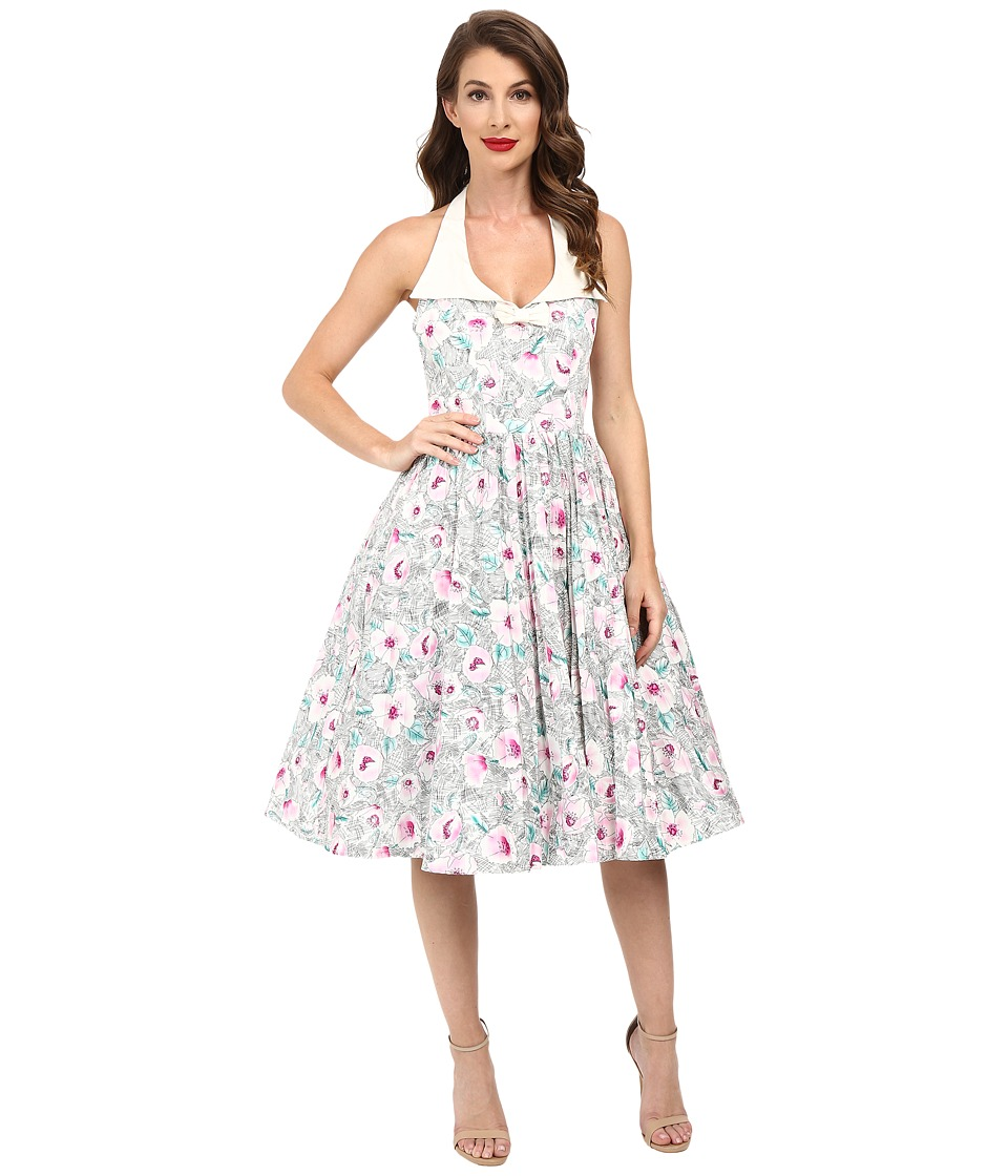 Unique Vintage - Halter Dress (Floral Print) Women's Dress