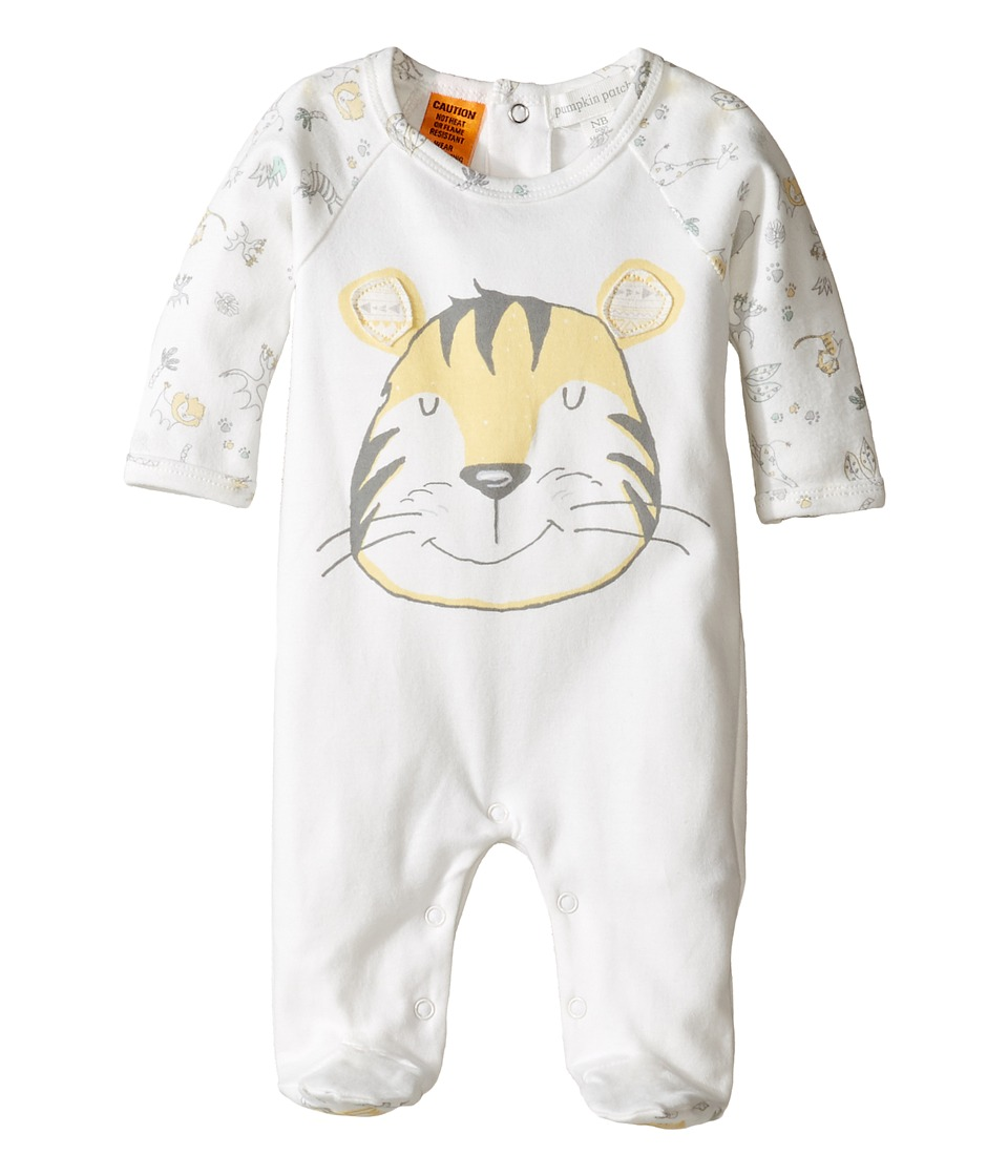 Pumpkin Patch Kids - Tiger Face All-In-One (Infant) (French Vanilla) Kid's Jumpsuit & Rompers One Piece