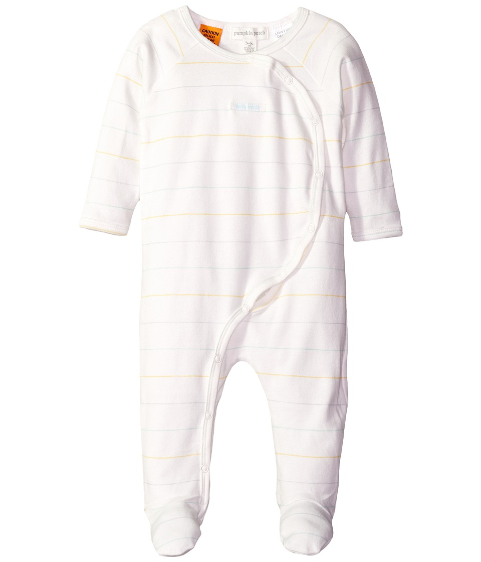 Pumpkin Patch Kids - Stripe Cross Over All-In-One (Infant) (French Vanilla) Kid's Jumpsuit & Rompers One Piece
