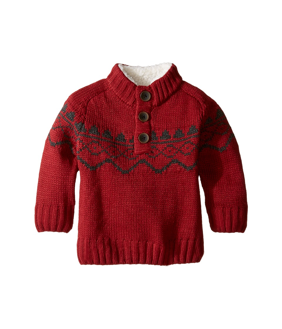 Pumpkin Patch Kids - Chunky 1/2 Button Sweater (Infant/Toddler/Little Kids/Big Kids) (Garnet) Boy's Sweater