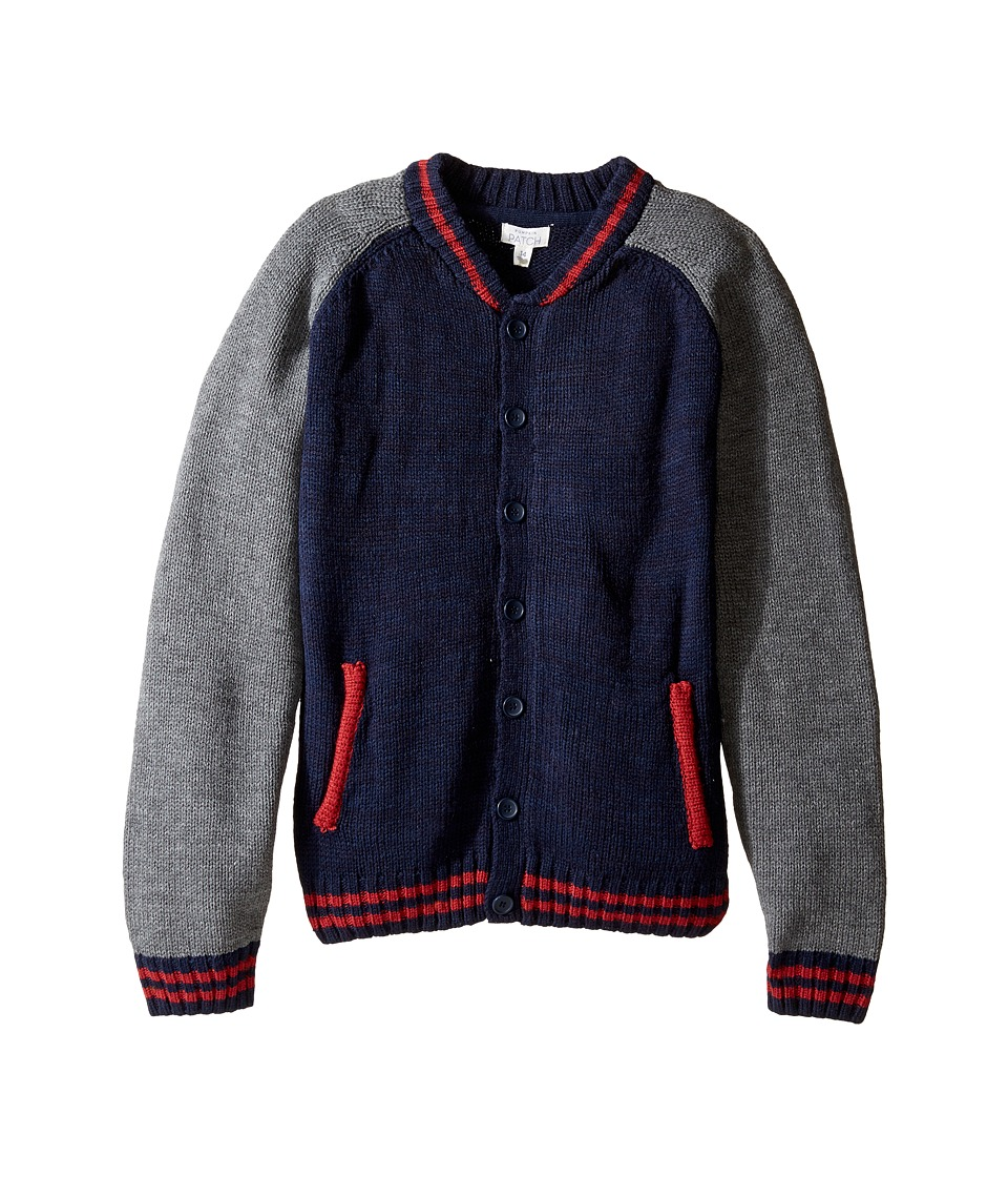 Pumpkin Patch Kids - Baseball Cardigan (Little Kids/Big Kids) (Insignia Blue) Boy's Sweater