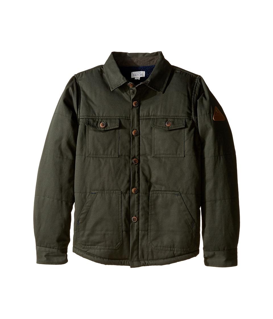 Pumpkin Patch Kids - Spliced Padded Shirt Jacket (Little Kids/Big Kids) (Forest Night) Boy's Coat