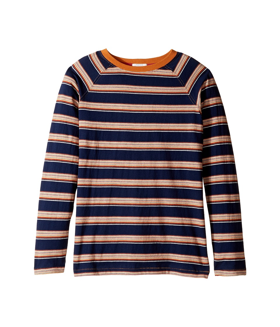 Pumpkin Patch Kids - Striped Long Sleeve Tee (Little Kids/Big Kids) (Insignia Blue) Boy's T Shirt