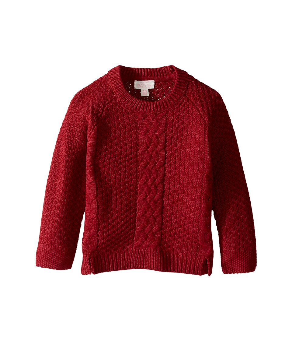 Pumpkin Patch Kids - Chunky Cable Sweater (Infant/Toddler/Little Kids/Big Kids) (Deep Claret) Girl's Sweater
