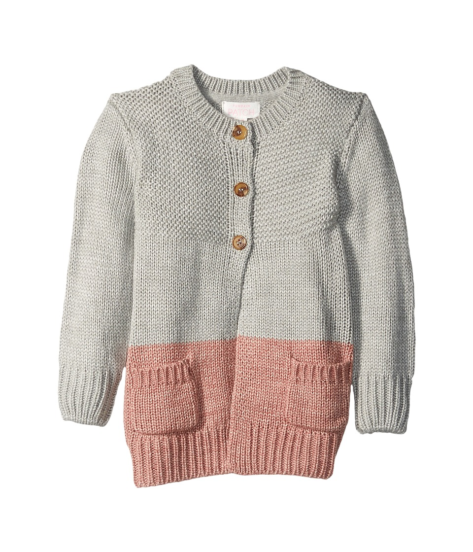 Pumpkin Patch Kids - Chunky Knit Long Cardigan (Infant/Toddler/Little Kids/Big Kids) (Grey Cable) Girl's Sweater