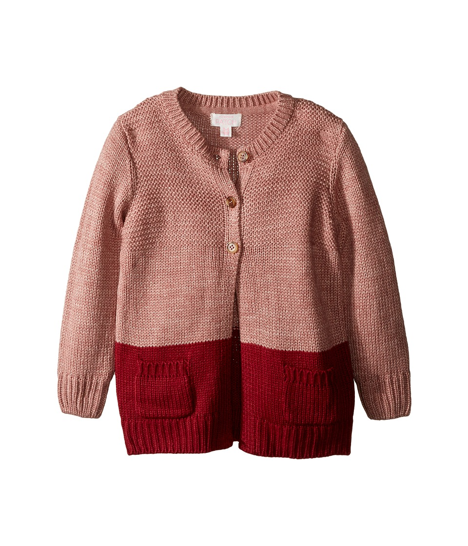 Pumpkin Patch Kids - Chunky Knit Long Cardigan (Infant/Toddler/Little Kids/Big Kids) (Dusty Rose Marle) Girl's Sweater
