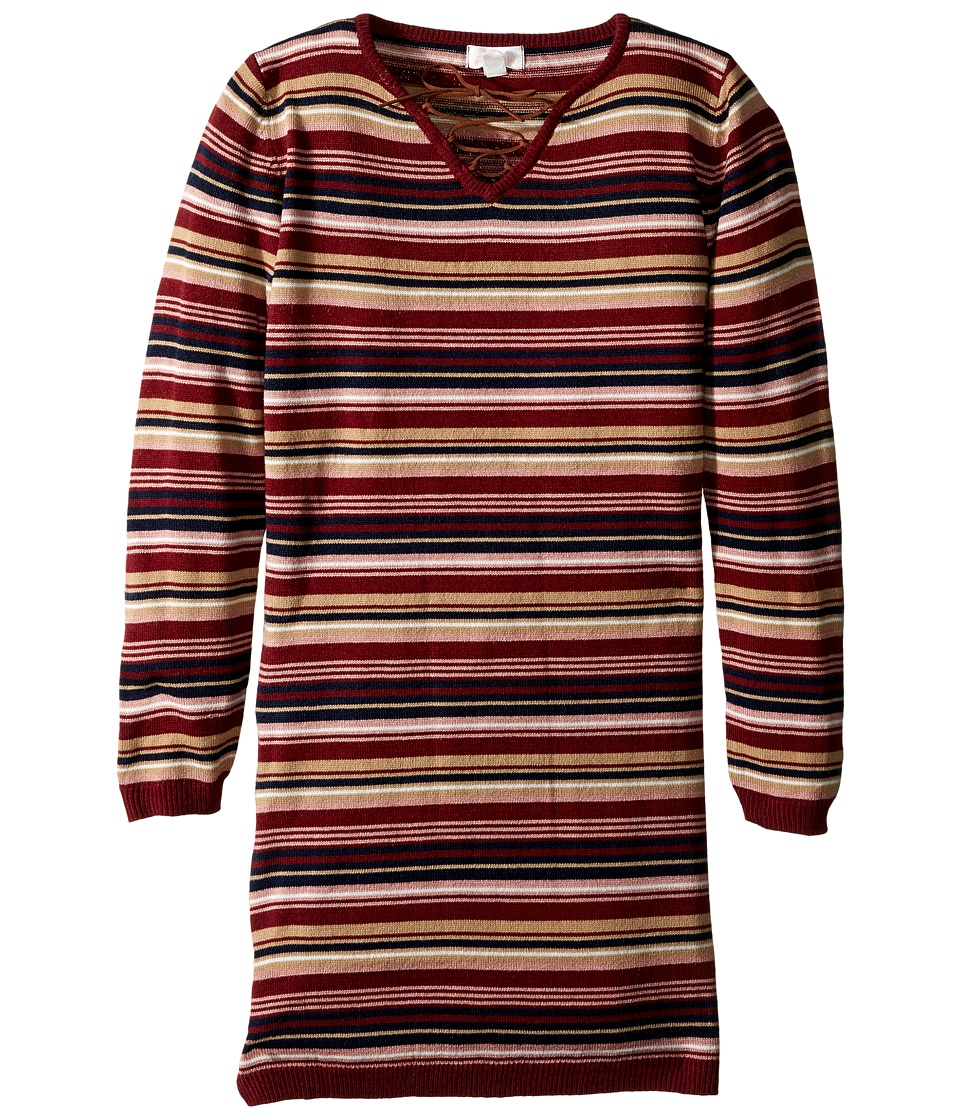 Pumpkin Patch Kids - A-Line Striped Tunic (Little Kids/Big Kids) (Pomegranate) Girl's Clothing