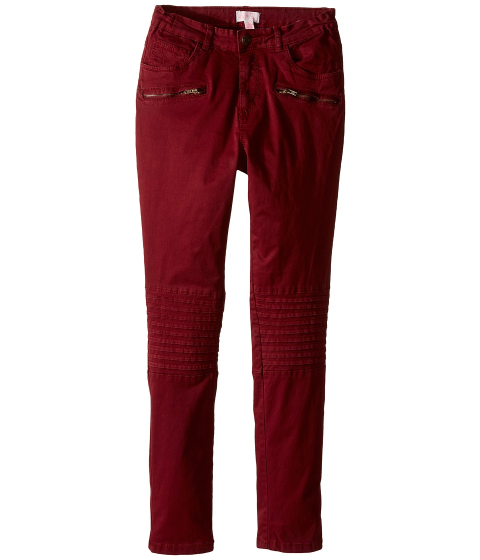 Pumpkin Patch Kids - Celia Knee Panel Pants (Little Kids/Big Kids) (Pomegranate) Girl's Casual Pants