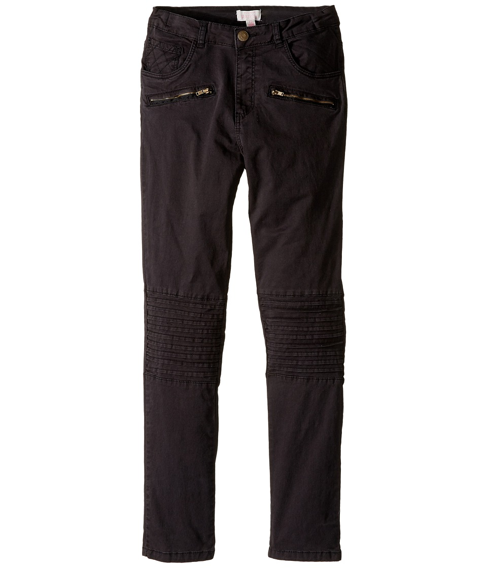 Pumpkin Patch Kids - Celia Knee Panel Pants (Little Kids/Big Kids) (Black Wash) Girl's Casual Pants