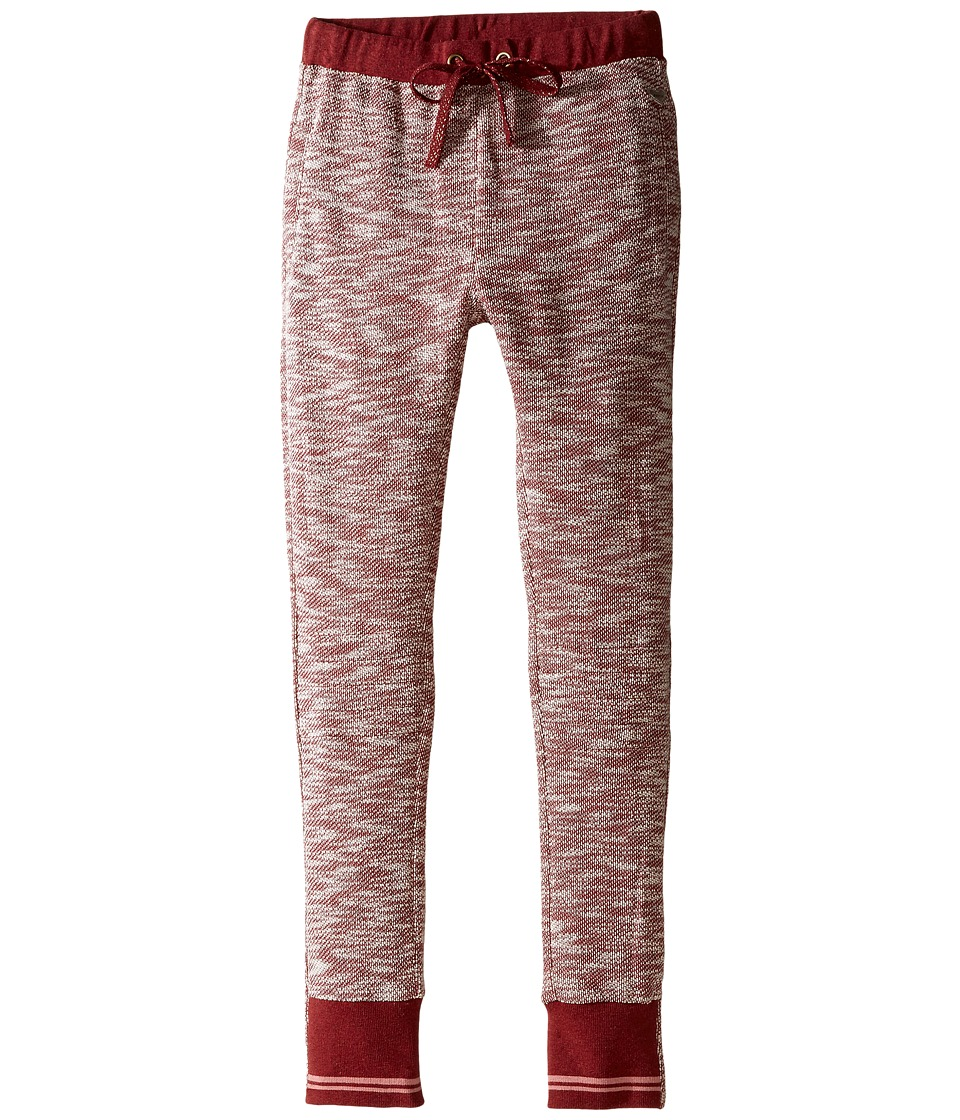 Pumpkin Patch Kids - Sibella Jogger (Little Kids/Big Kids) (Deep Claret Marle) Girl's Casual Pants