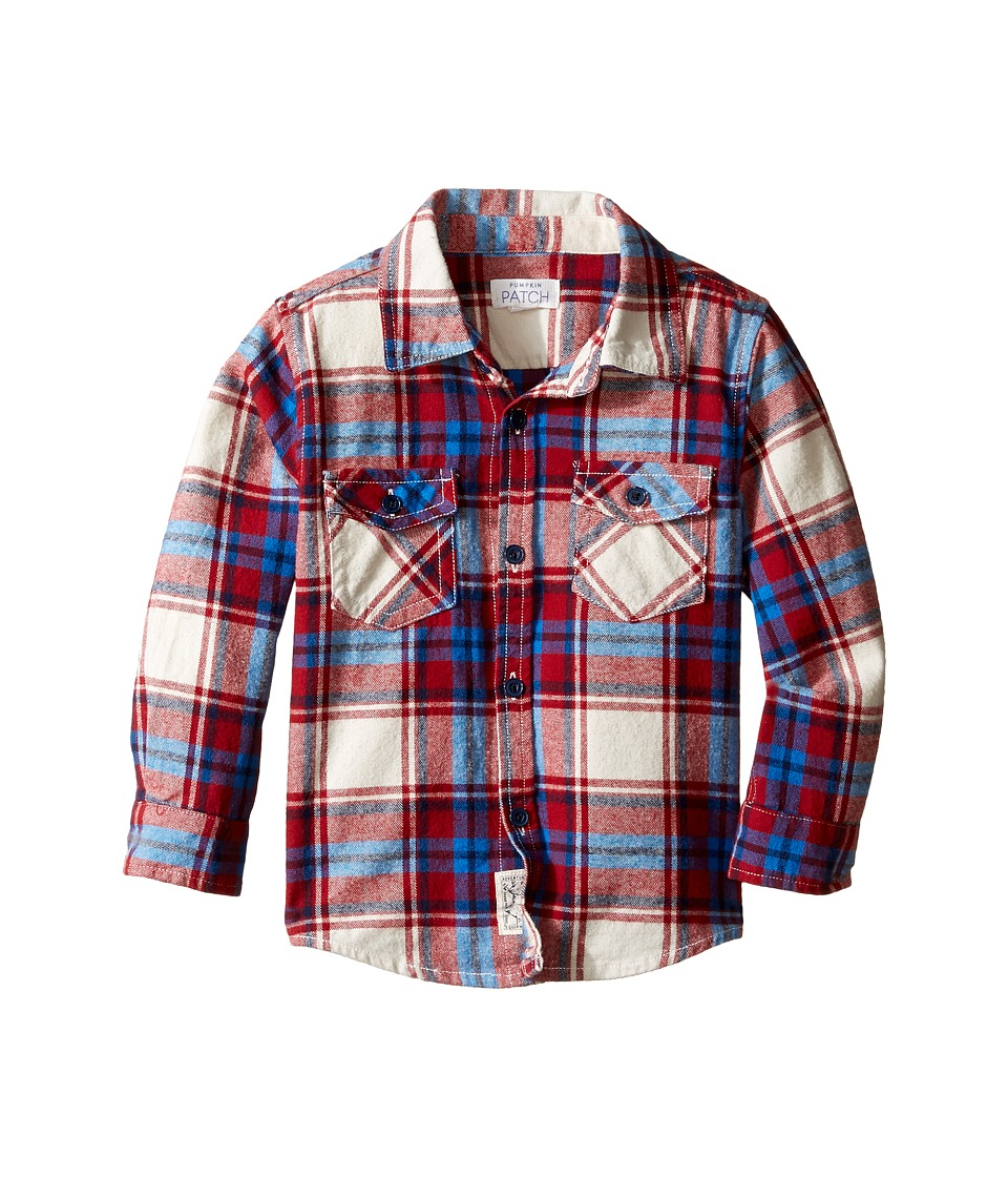 Pumpkin Patch Kids - Garnet Checked Shirt (Infant/Toddler/Little Kids) (Garnet) Boy's Clothing