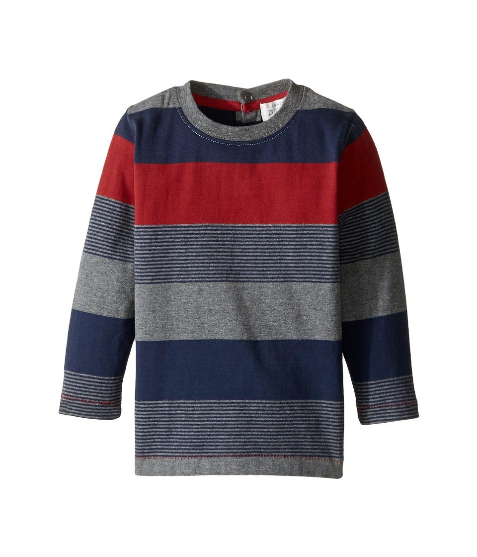 Pumpkin Patch Kids - Striped Long Sleeve Tee (Infant/Toddler/Little Kids/Big Kids) (Garnet) Boy's T Shirt