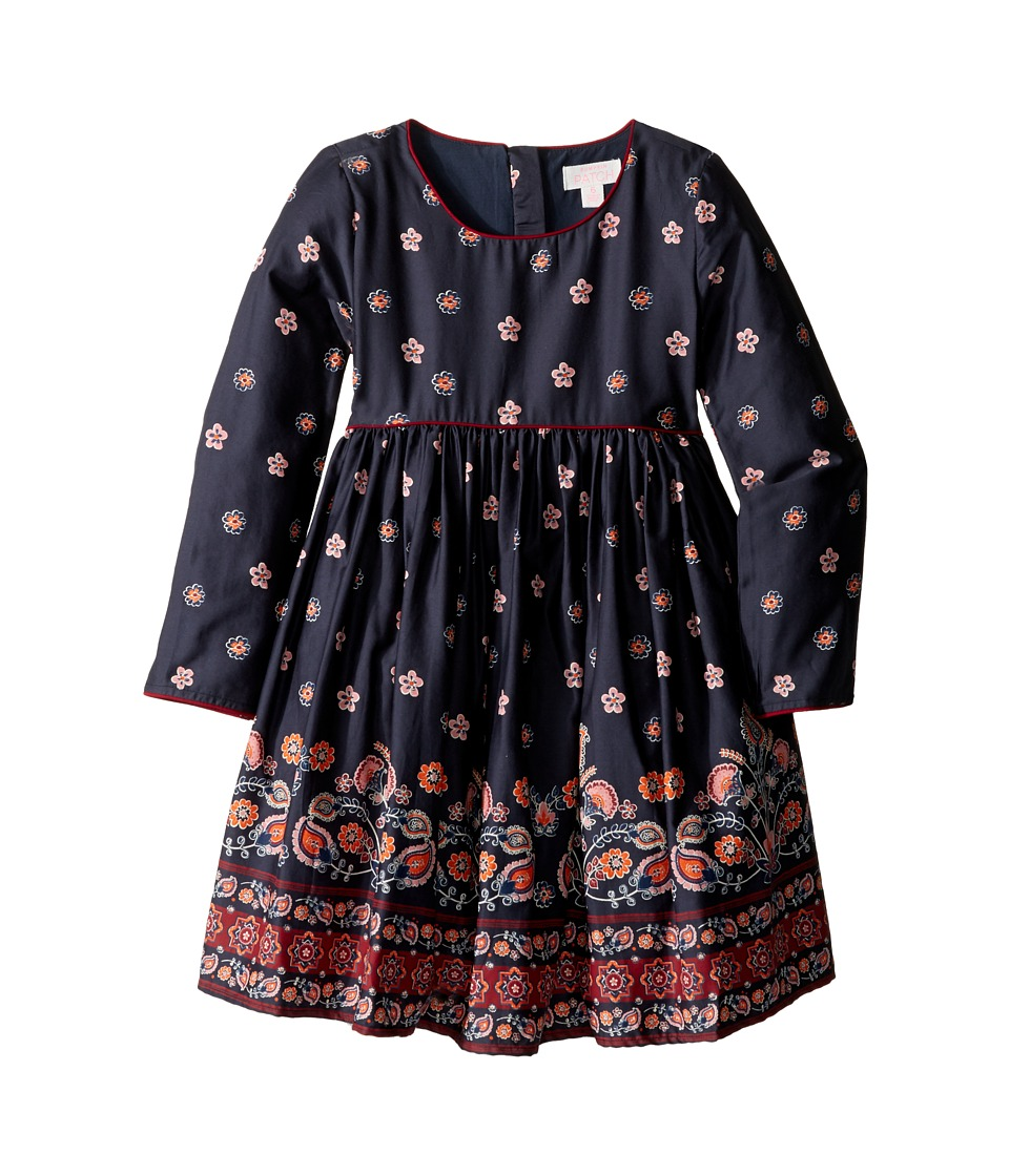 Pumpkin Patch Kids - Border Print Dress (Infant/Toddler/Little Kids/Big Kids) (Twilight) Girl's Dress