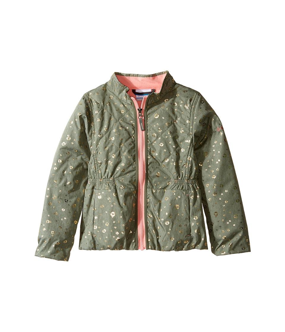 Columbia Kids - Next Destination G Casual Jacket (Little Kids/Big Kids) (Cypress Shibori Dot Print/Sorbet) Girl's Coat