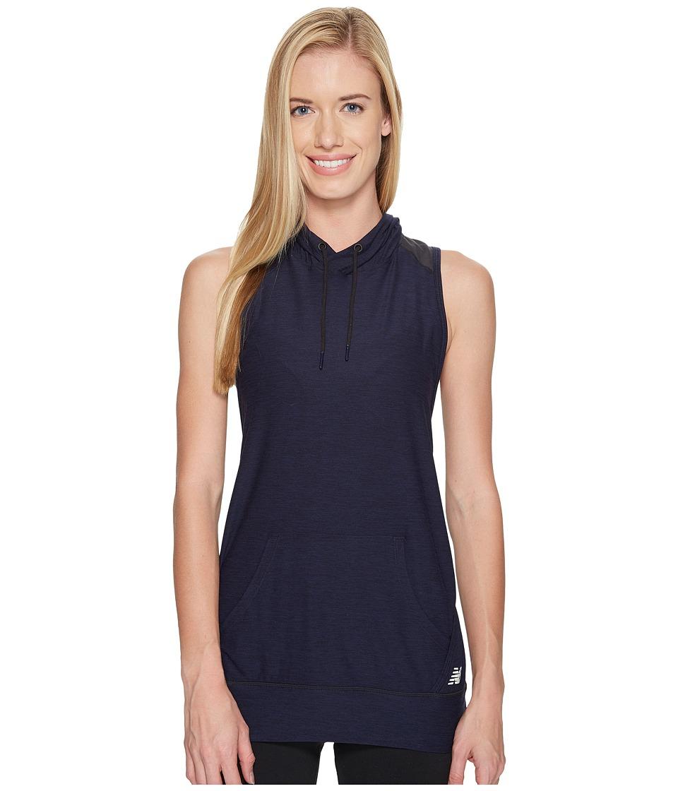 New Balance - Hooded Tank Top Pullover (Pigment Heather) Women's Sleeveless
