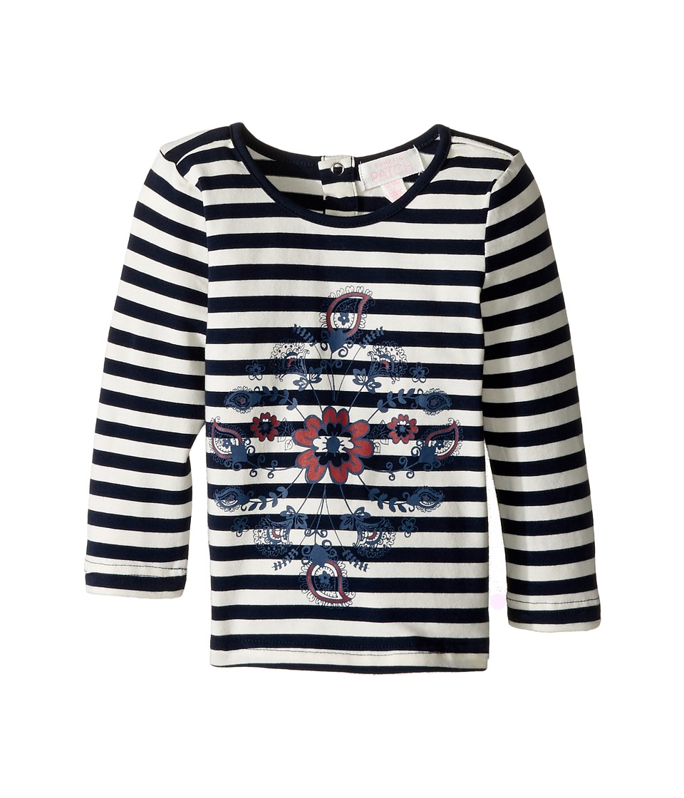 Pumpkin Patch Kids - Printed Stripe Top (Infant/Toddler/Little Kids/Big Kids) (Twilight) Girl's Clothing