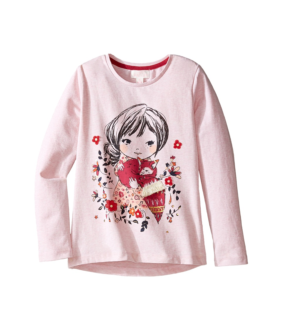 Pumpkin Patch Kids - Printed Top (Infant/Toddler/Little Kids/Big Kids) (Dusty Rose) Girl's Clothing