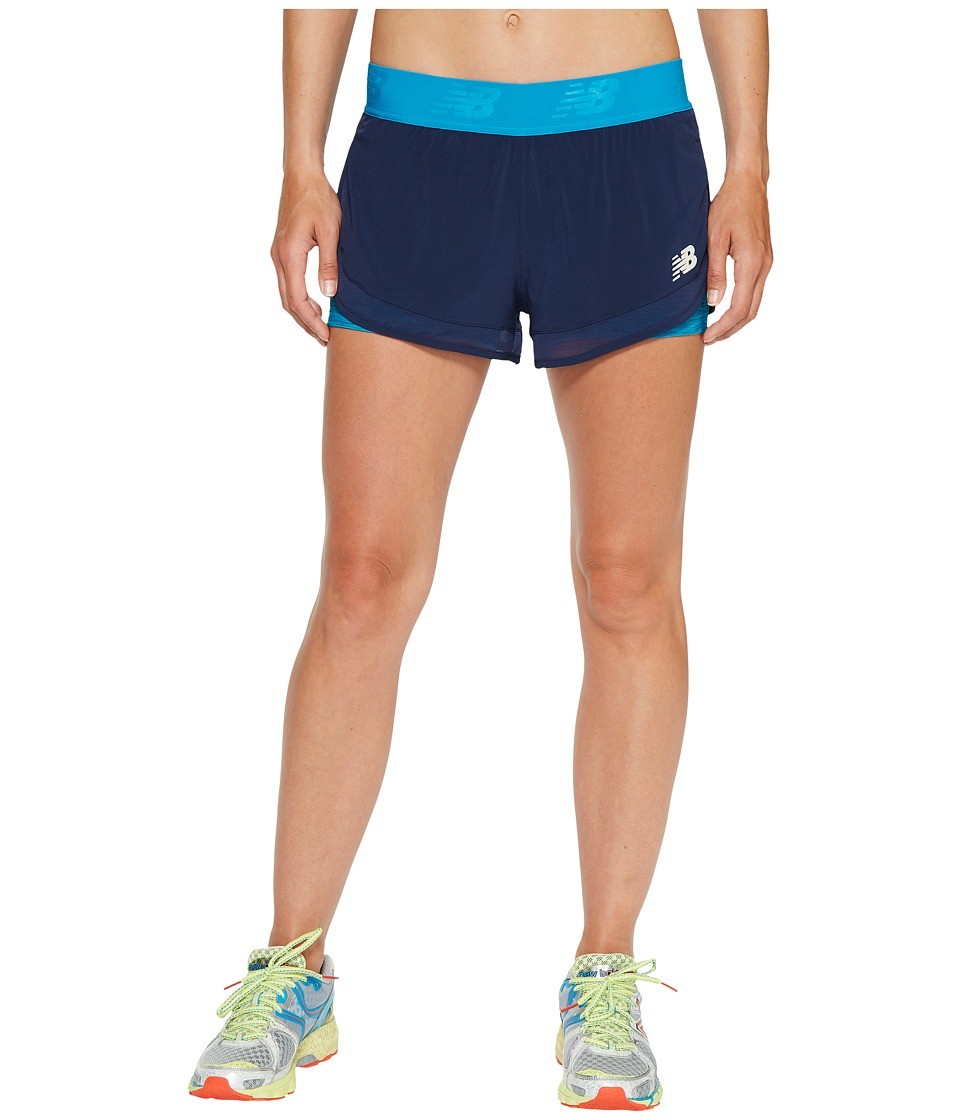 New Balance - Mixed Media 2-in-1 Shorts (Pigment) Women's Shorts