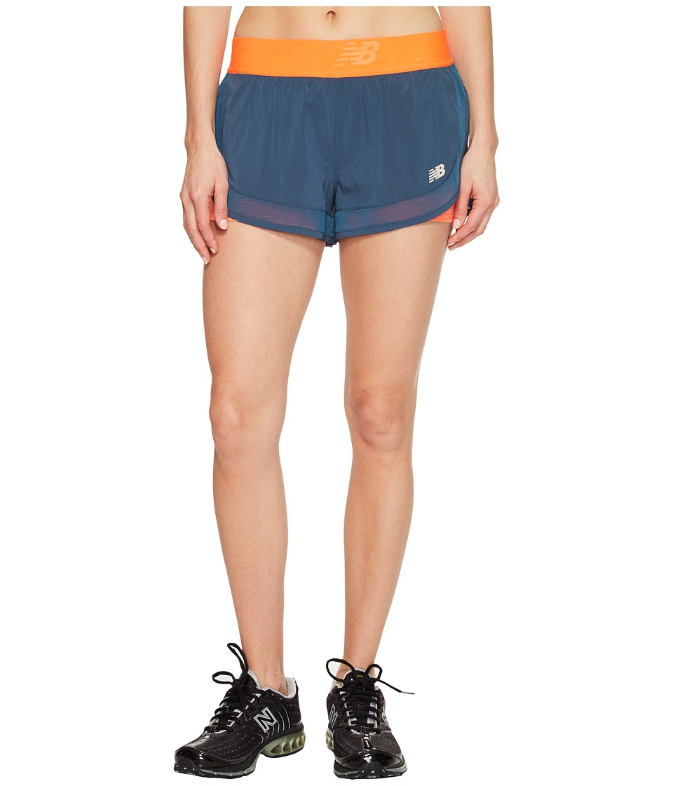 New Balance - Mixed Media 2-in-1 Shorts (Sunrise) Women's Shorts