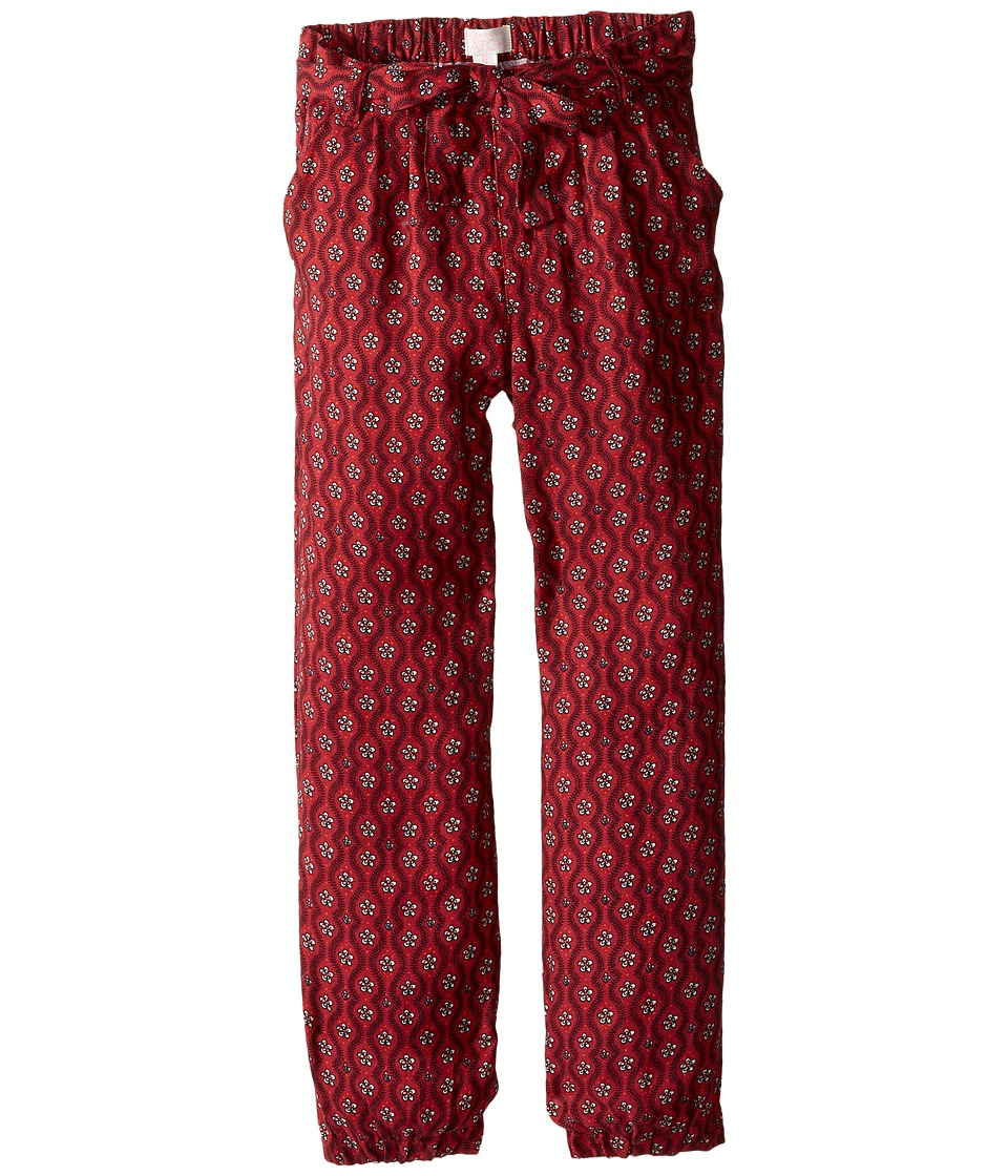 Pumpkin Patch Kids - Printed Tie Pants (Infant/Toddler/Little Kids/Big Kids) (Deep Claret) Girl's Casual Pants