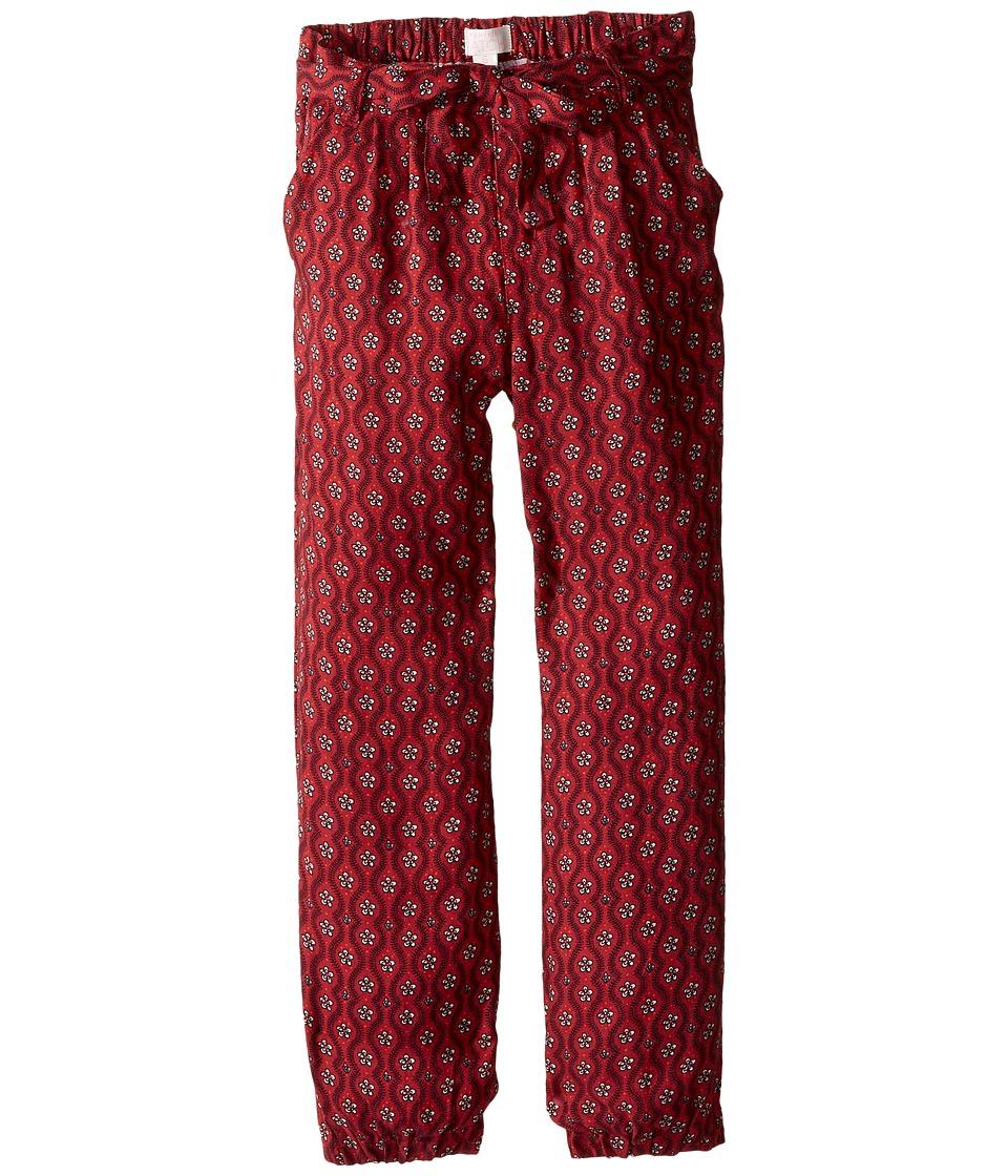 Pumpkin Patch Kids - Printed Tie Pants (Infant/Toddler/Little Kids/Big Kids) (Deep Claret) Girl's Casual Pants