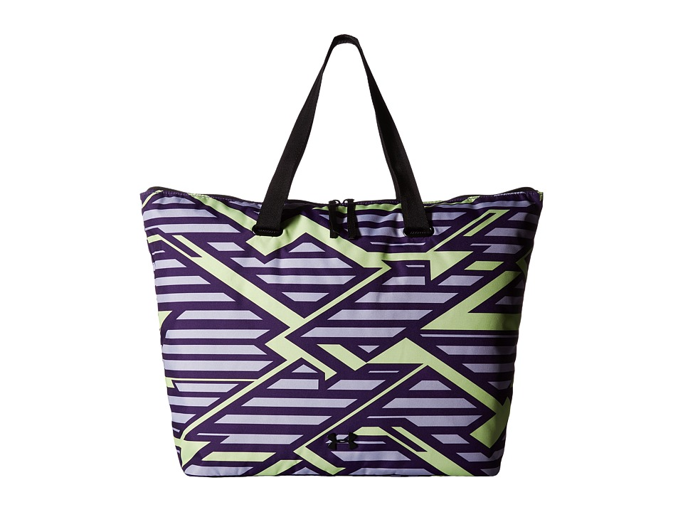 Under Armour - UA Printed on the Run Tote (Purple Emerite/Pale Moonlight/Black) Tote Handbags