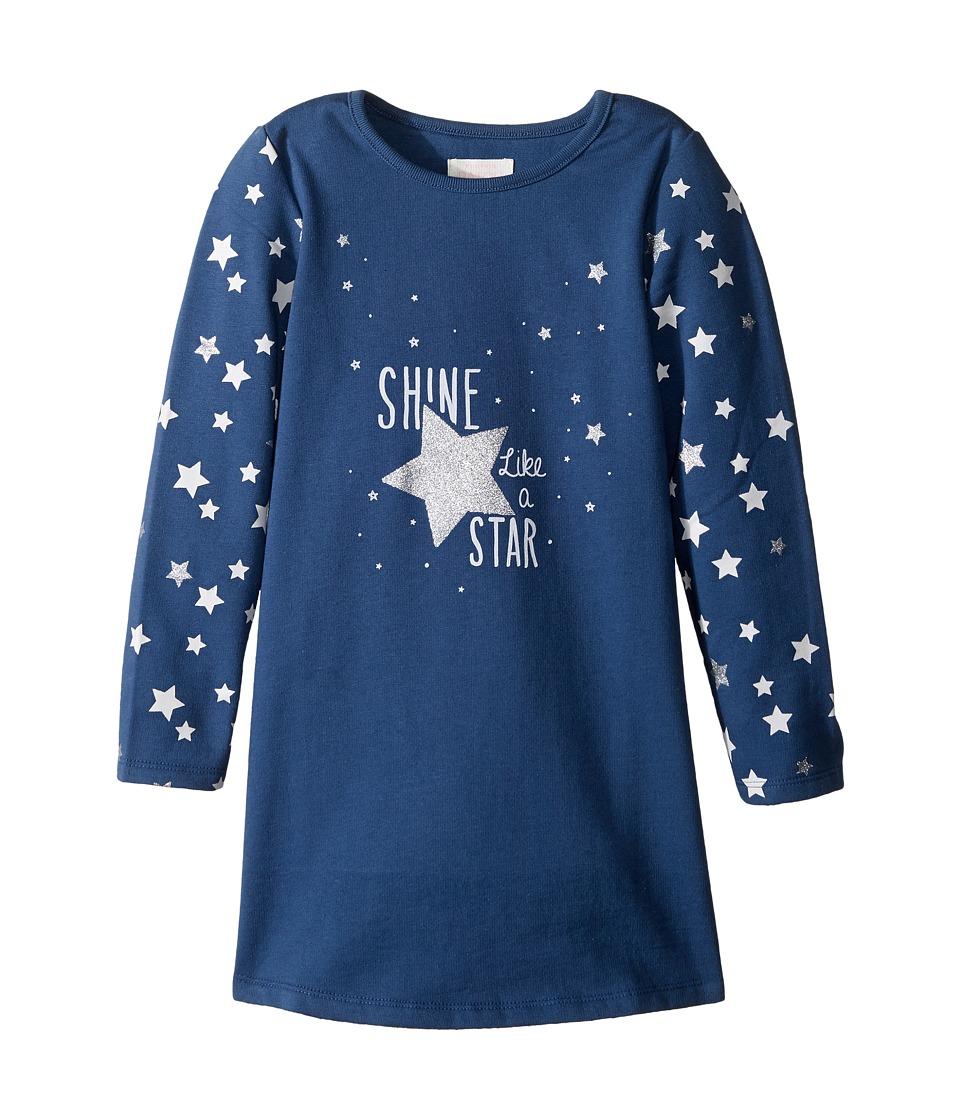 Pumpkin Patch Kids - Star Glitter Sweater Dress (Infant/Toddler/Little Kids/Big Kids) (Blue Wing) Girl's Dress