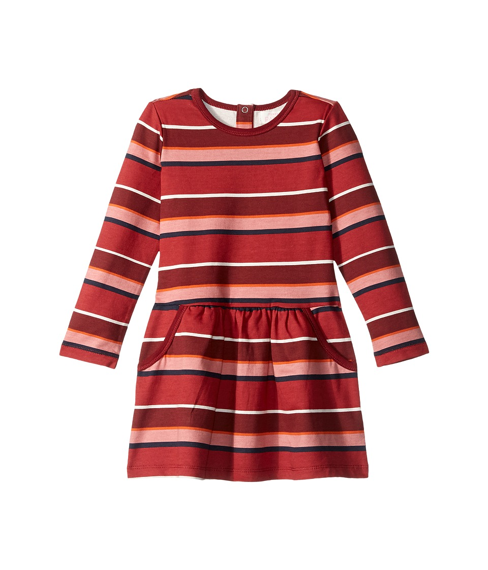 Pumpkin Patch Kids - Stripe Fleece Dress (Infant/Toddler/Little Kids/Big Kids) (Deep Claret) Girl's Dress