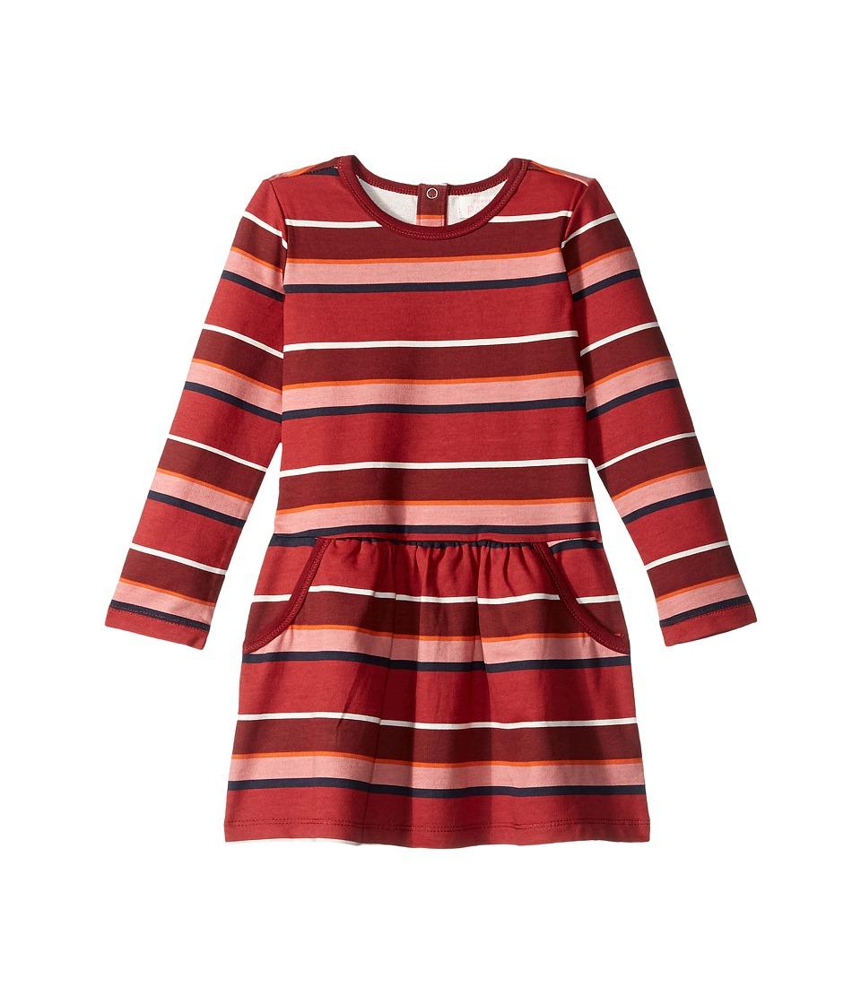 Pumpkin Patch Kids - Stripe Fleece Dress (Infant/Toddler/Little Kids/Big Kids) (Deep Claret) Girl's Dress