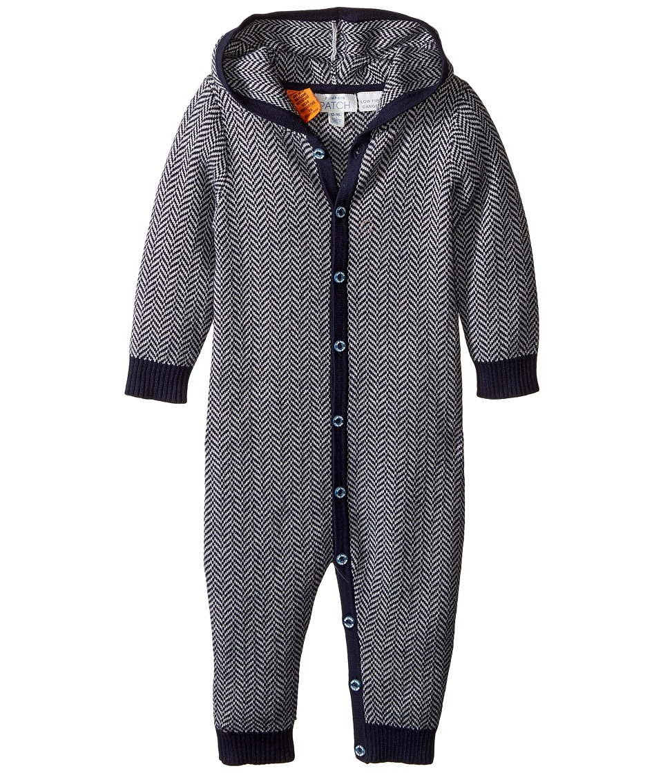 Pumpkin Patch Kids - Jacquard All-In-One (Infant) (Insignia Blue) Boy's Jumpsuit & Rompers One Piece