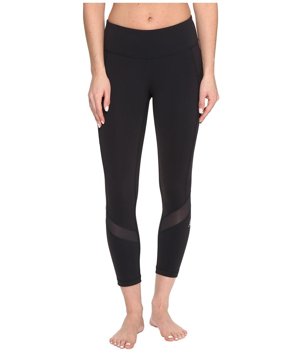 New Balance - Premium Performance Fashion Crop (Black) Women's Workout