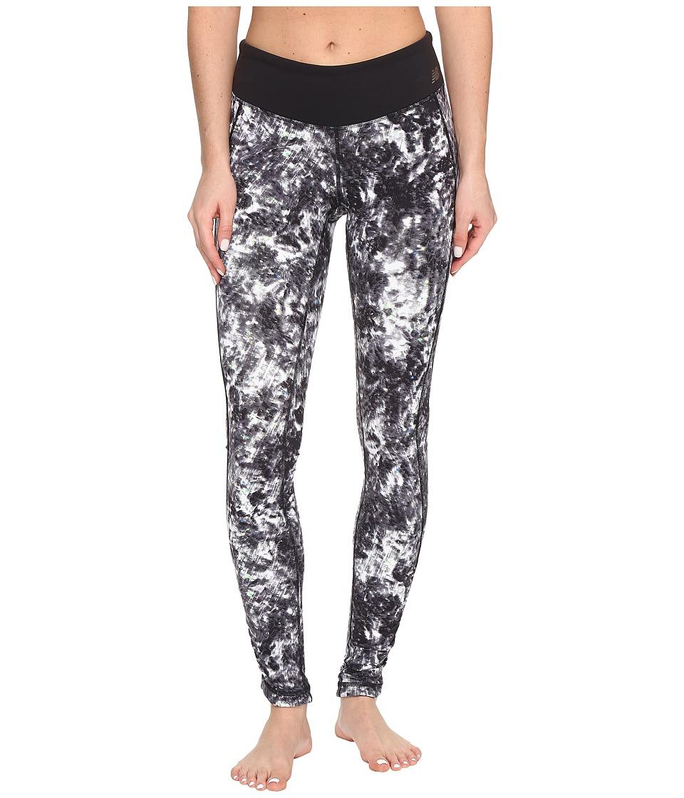 New Balance - Premium Performance Tight Print Pants (White Tie-Dye Floral) Women's Casual Pants