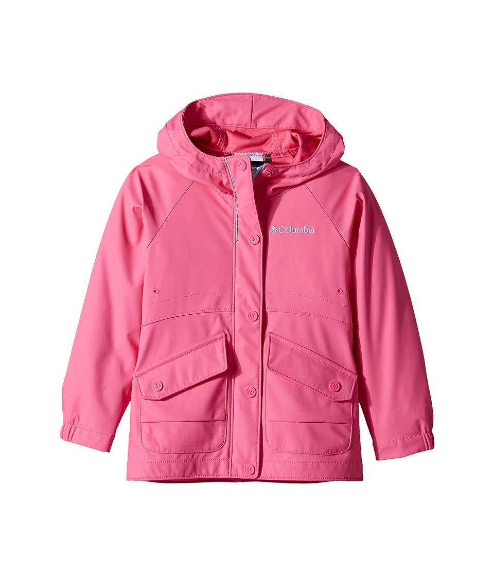 Columbia Kids - Ponder Yonder Rain Slicker (Little Kids/Big Kids) (Wild Geranium/Clear Blue) Girl's Coat