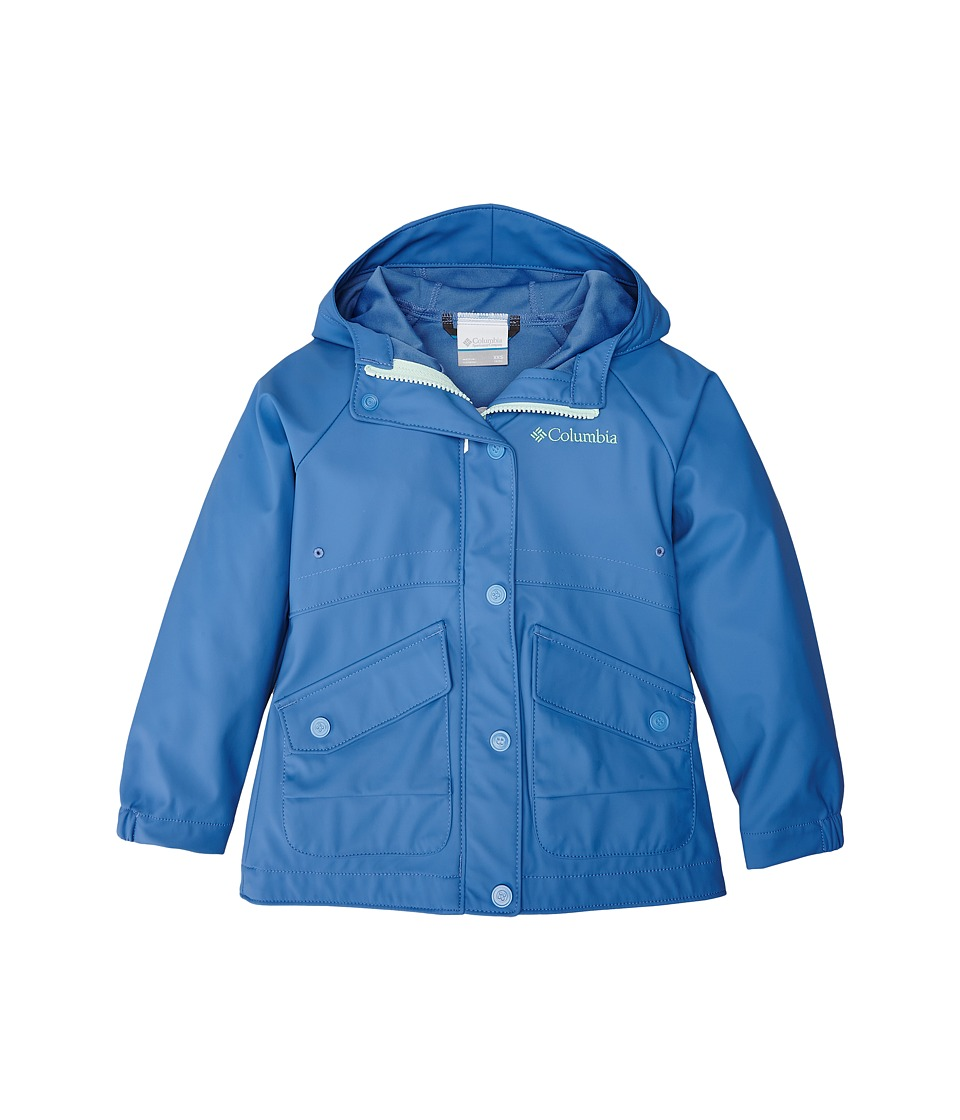 Columbia Kids - Ponder Yonder Rain Slicker (Little Kids/Big Kids) (Medieval/Sea Ice) Girl's Coat